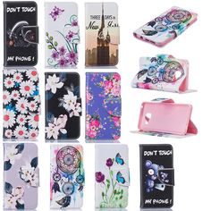 Colors Painted PU Leather Case For Samsung Galaxy A310F A310 A3 2016 SM-A310F Flip Stand Wallet Cover Bag For Samsung A3 2016