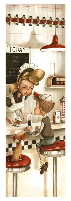 Print+50s+Style+by+DanielaVolpari+on+Etsy,+€8.00  I LOVE Daniela Volpari's work!! She even does custom illustrations by request!! She's wonderful!!