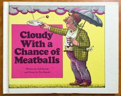 Cloudy With A Chance of Meatballs by Judi Barrett 1979 VGC Hc / Life Is Delicious In Town of Chewandswallow