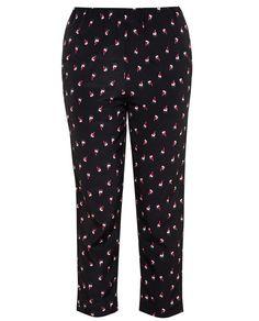 MARNI Silk Tulip Print Trousers
