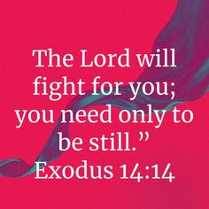 Exodus The LORD will fight for you; you need only to be still. Prayer Scriptures, God Prayer, Scripture Verses, Bible Verses Quotes, Faith Quotes, Wisdom Quotes, Life Quotes, Inspirational Bible Quotes, Biblical Quotes