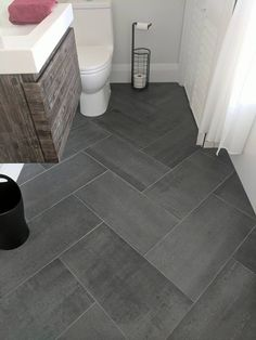 Bathroom Floor Tiles Ideas – Bathroom tiles are an… tiledbathrooms – Marble Bathroom Dreams Marble Bathroom Floor, Grey Floor Tiles, Shower Floor Tile, Bathroom Floor Plans, Diy Bathroom, Laundry In Bathroom, Marble Bathrooms, Floor Tile Patterns, Marble Tile Flooring