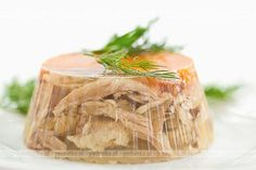 Aspic or jellied consommé. This one is made out of pork and poultry. Served whit shots of.) (dwie lornety i meduza ) Pork Recipes, Cooking Recipes, Healthy Recipes, Polish Recipes, Polish Food, Russian Recipes, No Cook Meals, Food Photo, Love Food