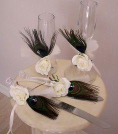 Wedding Reception Accessories Peacock Decoration tie by AmoreBride