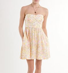 kirra strapless pop binding dress. pac sun. $34.50