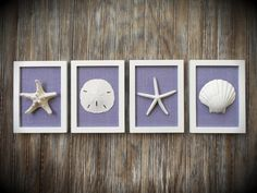 Cottage Chic Set of Beach Decor Wall Art by OMearasCottageCharm