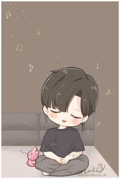 Jungkook Fanart, Bts Jungkook, Fanart Bts, Jungkook Songs, Taehyung, Bts Chibi, Anime Chibi, Anime Art, Chibi Boy