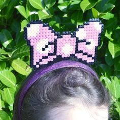 Hama Perler Bead Minnie Bow Hairband