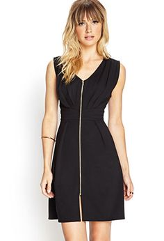 Zip-Front Knit Dress | FOREVER21 - 2000107396
