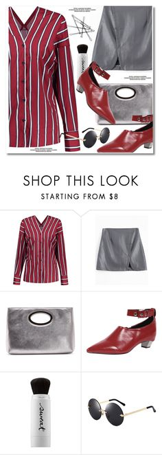 """striped shirt"" by paculi ❤ liked on Polyvore featuring Donald J Pliner and Sweat"