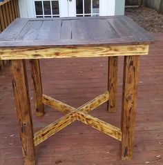 reclaimed pallet high top dining table