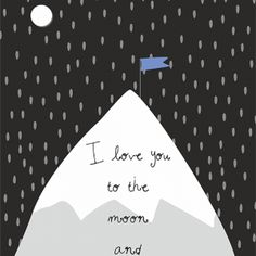 Plakat loveU - I love you to the moon and back NUNU BABA