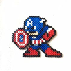 Captain America hama beads by l_mzki_creations