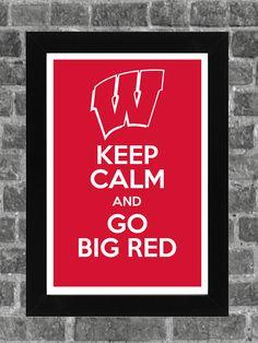 Keep Calm Wisconsin Badgers NCAA Print Art 11x17. $14.99, via Etsy.