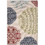 <strong>Perrysburg Cream/Sweet Pea Indoor/Outdoor Area Rug</strong> by Three Posts
