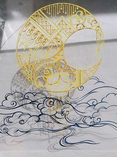 Layered papercut art by 祐琴 (Yuko) http://ameblo.jp/yukotokoto-kotton/imagelist-201511.html