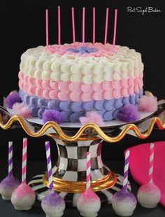 Purple, Pink and White Petal Cake for girls Birthday from www.pintsizedbaker.com