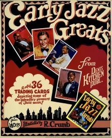 Early Jazz Greats Promo Poster by R. Crumb