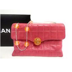 28ceee4c11aec5 Chanel Lambskin beads 7.87