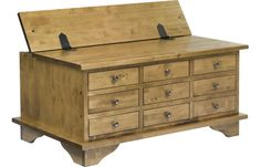 Garrat Honey 9 Drawer Small Box Coffee Table