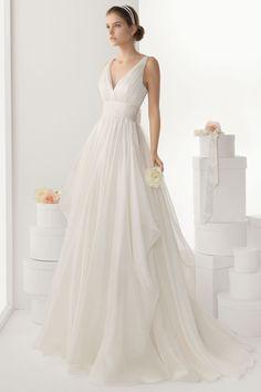 Sexy V neck Backless Bowknot Chiffon Wedding Dress Cheap [WBDF0012] - Aiven.co.uk - Aiven.co.uk