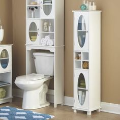 Our Oval Windows Bathroom Tower gives you the storage space you need AND the decorative good looks you want Designed with 2 cabinets x x Buy Now, Pay Later Credit Shopping at Seventh Avenue Small Bathroom Storage, Bathroom Organisation, Bathroom Design Small, Organization, Wood Interior Design, Home Interior, Interior Decorating, Bathroom Tower, Bathroom Windows