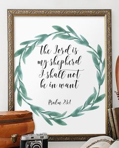 Bible verse for encouragement Scripture art by TwoBrushesDesigns