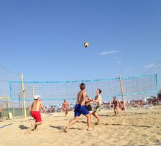 Beach Volleyball - one of the many weekly social events in San Remo.  #learnitalian #studyitalian #studyinitaly #travelitaly #italianculture #italianlanguage