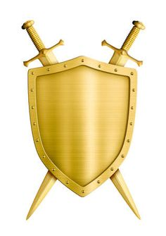 123RF - Millions of Creative Stock Photos, Vectors, Videos and Music Files For Your Inspiration and Projects. Banner Clip Art, Knight Shield, Photo Gold, Medieval Knight, White Image, Wheelbarrow, Coat Of Arms, Saddle Bags, Stock Photos