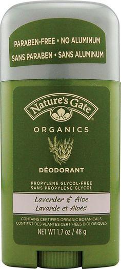 Nature's Gate Organics Deodorant Lavender and Aloe  #crueltyfree #noanimaltesting
