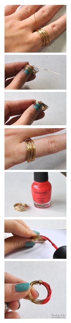 Easy nail polish ring tutorial under five minutes!