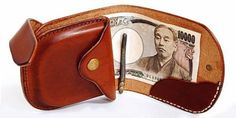 Leather billfold wallet with coin purse