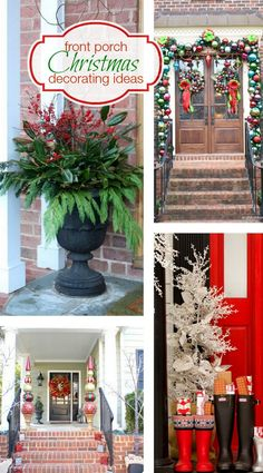 Front Porch Christmas Decorating Ideas in addition to your wreath | Bright Bold and Beautiful