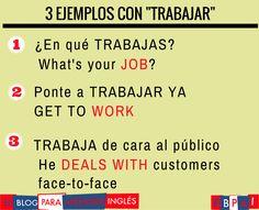 Spanish vocabulary - Trabajar