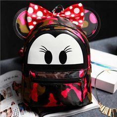 Bolsas escolares mujeres de cuero de las muchachas buttery mochila carácter mochila de viaje de camuflaje para el School girl mochilas LI-392