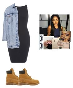 """""""Haaah hold up freeze watch your your girl come in with ezz"""" by kiwi1211 ❤ liked on Polyvore featuring Pull&Bear, Timberland, Coach, FingerPrint Jewellry and Olivia Burton"""