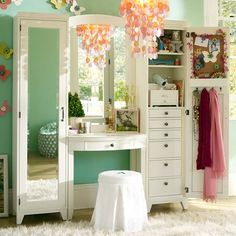 This vanity would be perfect to put all of my makeup in!