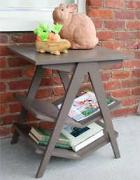 A DIY chevron-styled end table
