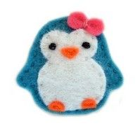 Hair Clip Felt Penguin Turquoise Blue by siiri on Etsy from Wists, top web picks from DeviousDingbat for all. Wists, social shopping scrapbook, wishlist