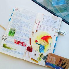 給自己的提醒: 别把自己累壞了! Last week. 2 days of medical leave. #手帳好朋友 #手帳 #手帐好朋友 #手帐 #手寫 #手作 #手繪 #繪畫 #纸胶带 #mtn #midoritravelersnotebook #travelersnotebook #journaling #weekly #drawing #watercolour #waxseal #quote