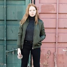 Bomber black outfit