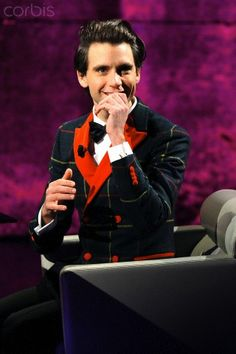 Mika appears on the Italian TV show 'Che tempo che fa', hosted by Fabio Fazio at RAI studios in Milan, Italy