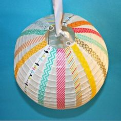 These cute and easy lanterns would make great party decorations or embellishments for a baby's room!