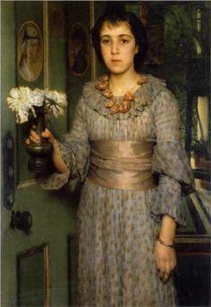 Anna Alma Tadema - Sir Lawrence Alma-Tadema Oil on Canvas 112 x 76.2 cm Completed 1883