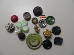 Vintage Buttons 1940's or Before by ArtsyTreasures on Etsy, $10.00