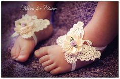 Hey, I found this really awesome Etsy listing at https://www.etsy.com/listing/184112632/ivory-butterfly-baby-barefoot-sandals