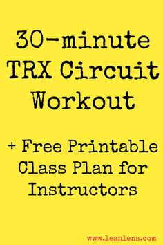 TRX Circuit Workout Plan for TRX instructors to use in their TRX Training classes. Just 30 minutes of hard work, sweat and dedication! paleo for beginners inspiration Suspension Workout, Trx Suspension, Suspension Training, Suspension Straps, Trx Training, Training Classes, Circuit Training, Strength Training, Weight Training