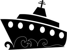 Free Cruise Ship Clip Art Image - clip art illustration of a . Boat Silhouette, Cartoon Silhouette, Silhouette Design, Cruise Party, Cruise Boat, Cruise Door Decor, Cruise Ship Pictures, Virgo Birthday, Pottery Painting