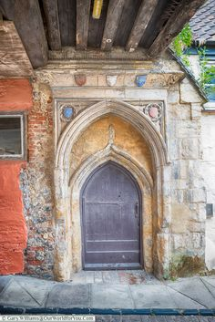 An entrance to Dragon Hall, Norwich, Norfolk, England