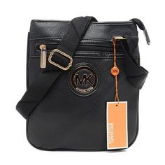 Michael Kors Logo Signature Large Black Crossbody Bags Outlet